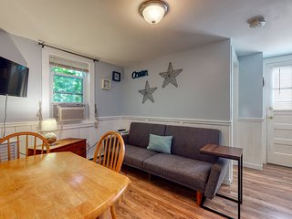 Beachy dog-friendly condo with partial AC and WiFi - just steps from the beach!