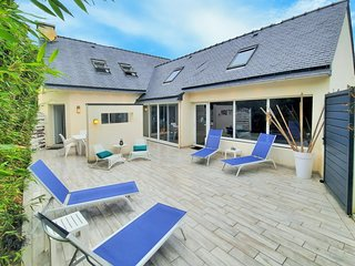 Stunning home in Moelan Sur Mer with Outdoor swimming pool, WiFi and 3 Bedrooms