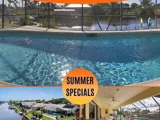 20% OFF! SWFL Rentals - Villa Manatee - Beautiful Gulf Access Heated Pool Home S