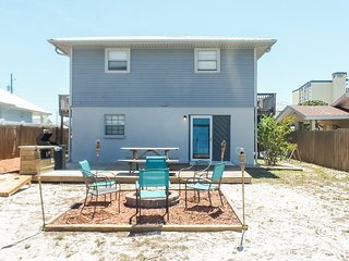 New listing! Dog-friendly beach escape w/ a full kitchen & furnished back patio