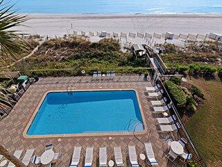 Contemporary Gulf-view home w/ a private balcony & complimentary beach service