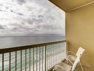 Colorful, beachfront getaway w/ a private balcony, shared pools, fitness center