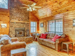 Bright dog-friendly cabin w/ valley views, private gas grill, and firepit!