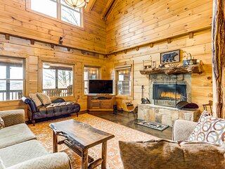 Stunning mountain home w/ private hot tub, game room, & loft!