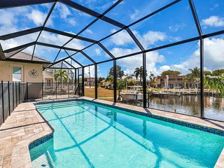 New listing! Modern escape w/ canal view & private pool - near the Sound!