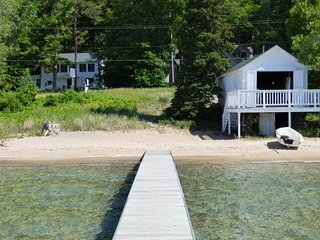 Stunning retreat w/ private dock & wood-burning stove - close to town!
