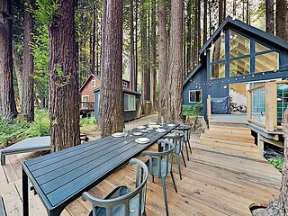 New Listing! Artfully Upgraded A-Frame w/ Waterfront Deck on Austin Creek
