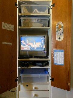 TV & WI-FI modem in bedroom