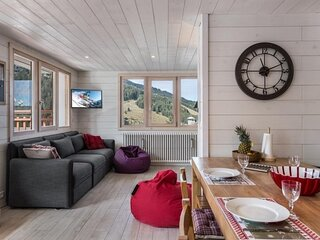 Appartement entierement renove et decoration style montagne
