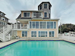 Waterfront Home on Sagamore Beach with Private Pool & Panoramic Bay Views!