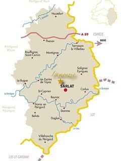 carte Dordogne - Périgord