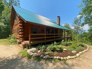 Cozy & modern log cabin w/ free WiFi, wood-burning fireplace, & mountain views