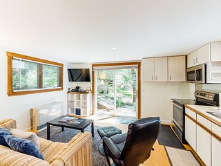 New listing! Two-level dog-friendly condo w/ patio, gas grill, & firepit!