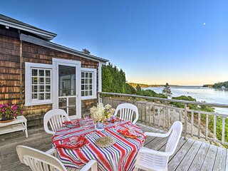 NEW! Scenic Oceanfront Cottage w/ Deck & Near Town