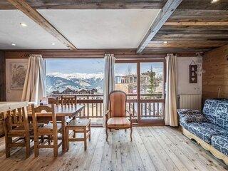 Interieur de caractere tout en bois avec cuisine ouverte sur salon