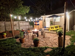 Relax out back after your daily Colorado adventures by the fire pit!