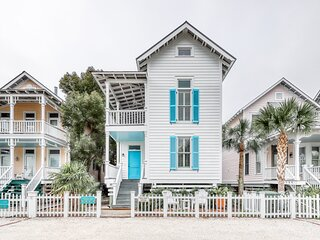 Charleston-style cottage w/ lovely decks, steps to the beach & shared pools!