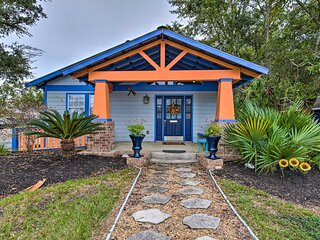 NEW! Coastal Abode: Smart TV, A/C, 1 Mi to Beach!