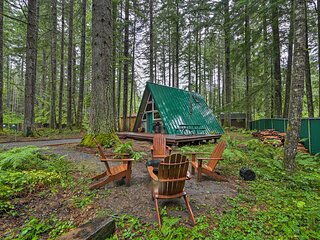 NEW! Quiet A-Frame Cabin, Steps to Nisqually River