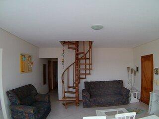 Cobertura Duplex, Próximo Mar, Bombinhas, Mobiliada, Terraço com Churrasqueira