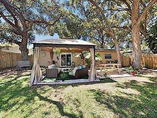 Modern Getaway | Fenced Backyard with Cabana | All-New Interior