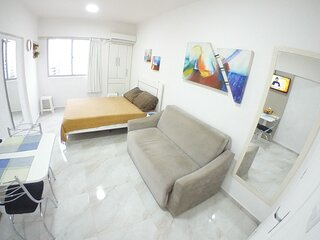 Kitchenette, 2 quadras da praia central,