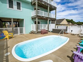 Just Chillin' | 632 ft from the beach | Private Pool, Hot Tub | Kill Devil Hills