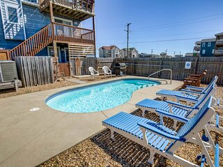 Park Place | 59 ft from the beach | Private Pool, Hot Tub | Kitty Hawk