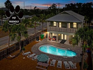 FREE Golf Cart, Updated w/ Private Pool, Near Beach + $200 LiveWell30A Credit