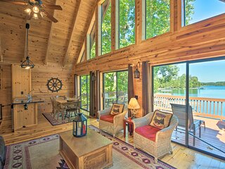 NEW! Serene Lakefront Retreat w/ Dock & Game Room!