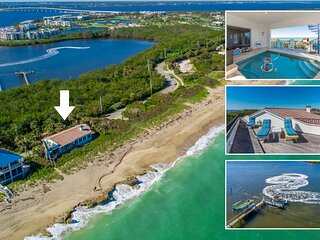 La Dolce Vita: Ocean-2-River Beach House Directly On Beach (+pool,elevator&dock)