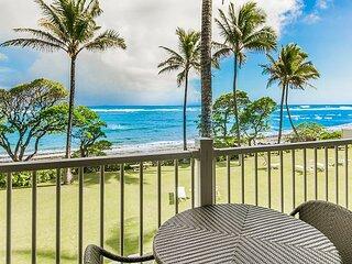 Kapaa Shore Resort #207, Oceanfront, 2nd Floor, New Cal King Bed, Wifi