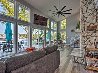 Bright & Modern Lakefront Home w/ Private Dock