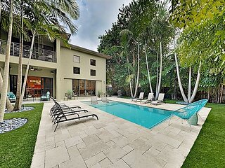 Luxe Home with 2 Balconies | Resort-Style Pool & Fenced Yard | Near Beach