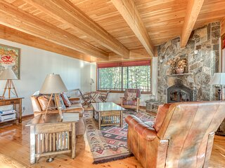 Beachfront home on the river w/ private beach, gas grill, & stunning interior!