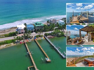 'Heaven Can't Wait!' Oceanfront & Riverfront (Pet-Friendly Beach House in SE FL)