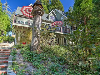 Waterfront Lake Arrowhead Home w/Balcony & Deck