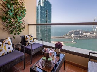 Spacious 2BR in JBR with Sea Views