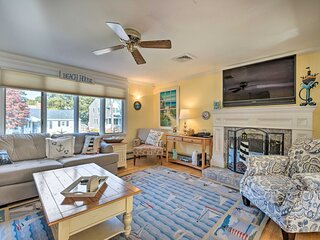 East Falmouth Home: 3-Min Walk to Private Beach!