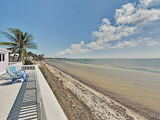 Chic Oceanfront Oasis | Private Beach & Boat Dock | Wraparound Deck