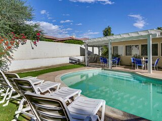 Smiles await w/ private poolside views & fun furnishings - dogs welcome!
