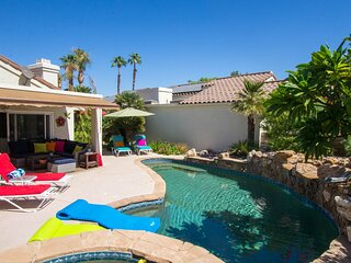 Dog-friendly desert retreat w/ lovely pool & spa - minutes to Tennis Garden!