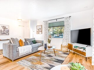 Newly-renovated, dog-friendly home w/ a private hot tub & large grassy yard