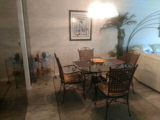 Relax and enjoy a meal in the comfort of the condo