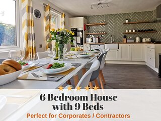 ☆ Clayton House - 6 bedroom house with 9 beds, up to 10 people