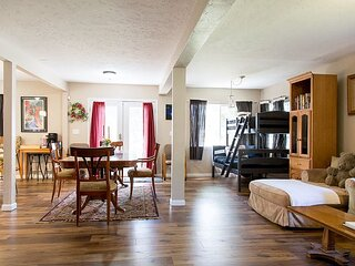 New Listing! Roomy Retreat w/ Gourmet Kitchen & Outdoor Fireplace