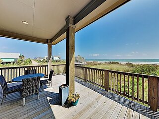 Brand New Gulf-Front Getaway | Inspiring Views, 150' to Sand, Mins to Dining