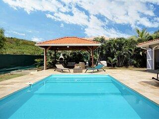 Villa de rêve piscine 3 chambres, sud Martinique, plage à 5 minutes