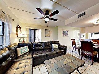 Coastal-Chic Condo with Pool & Balconies - Steps to Beach, Dining & Nightlife