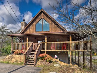 NEW! Sevierville Cabin w/Hot Tub + Wraparound Deck